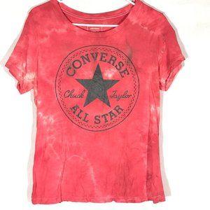 Converse Custom Tie Dye Tee Shirt m/l Top Cotton